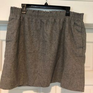 Jcrew Wool Pull-on Skirt
